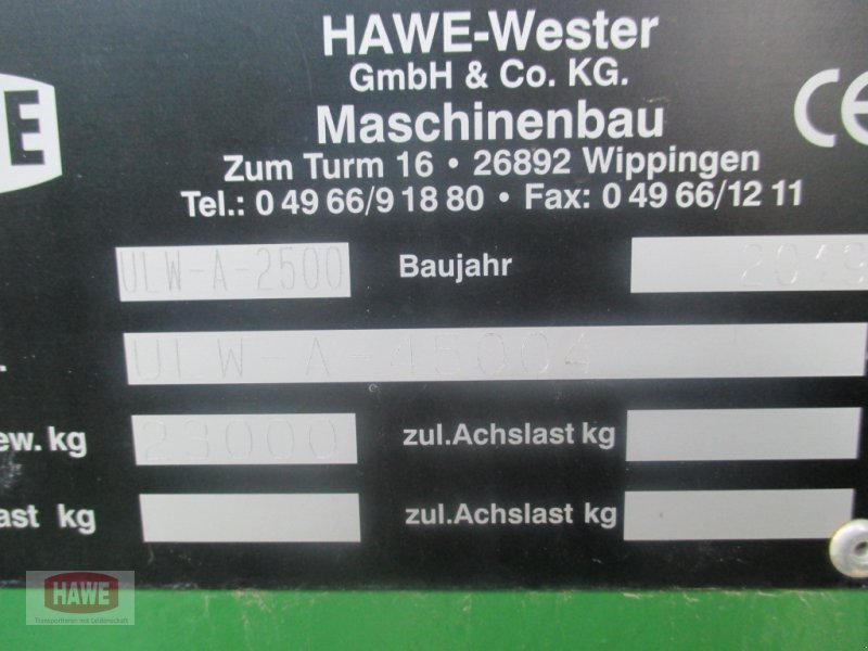 Überladewagen des Typs Hawe ULW-A 2500, Gebrauchtmaschine in Wippingen (Bild 13)