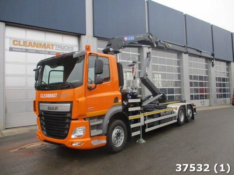 Abrollcontainer типа DAF CF FAN 410 HMF 21 ton/meter laadkraan, Gebrauchtmaschine в ANDELST (Фотография 1)