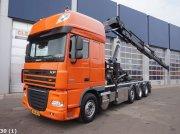 DAF FAK 105 XF 410 8x2 Hiab 21 ton/meter laadkraan Container mobile