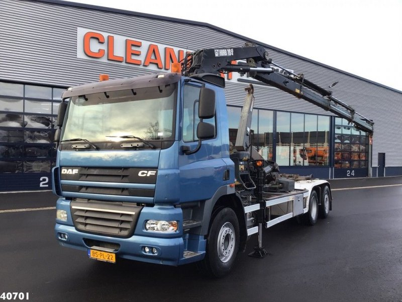 Abrollcontainer of the type DAF FAN 85 CF 360 Euro 5 Hiab 19 ton/meter laadkraan, Gebrauchtmaschine in ANDELST (Picture 1)