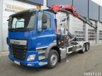Abrollcontainer tip DAF FAN CF 410 6x2 Euro 6 HMF 21 ton/meter laadkraan in ANDELST