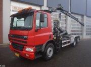 DAF FAS 75 CF 360 Hiab 7 ton/meter laadkraan (bouwjaar 2014) Kontener na kółkach