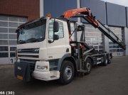 Abrollcontainer tipa DAF FAX 85 CF 410 8x2 Palfinger 27 ton/meter laadkraan, Gebrauchtmaschine u ANDELST