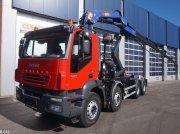 Abrollcontainer typu Iveco Trakker AD 340T PM 24 ton/meter laadkraan, Gebrauchtmaschine w ANDELST
