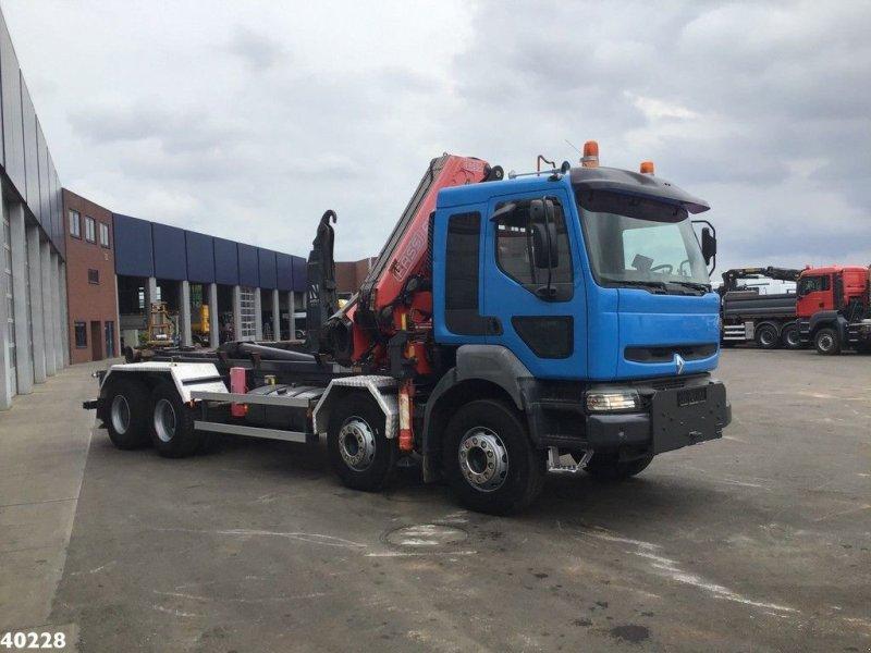 Abrollcontainer typu Renault Kerax 420 8x4 Fassi 33 ton/meter laadkraan, Gebrauchtmaschine w ANDELST (Zdjęcie 4)