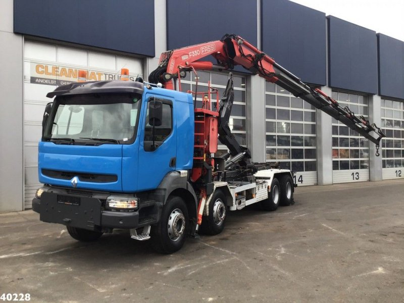 Abrollcontainer typu Renault Kerax 420 8x4 Fassi 33 ton/meter laadkraan, Gebrauchtmaschine w ANDELST (Zdjęcie 1)