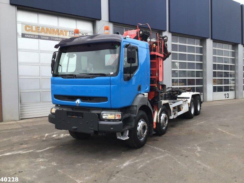 Abrollcontainer typu Renault Kerax 420 8x4 Fassi 33 ton/meter laadkraan, Gebrauchtmaschine w ANDELST (Zdjęcie 6)