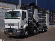 Renault Premium 460 DXI 8x4 Retarder Hiab 24 ton/meter laadkraan Съемный контейнер