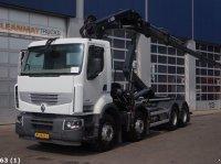 Renault Premium 460 DXI 8x4 Retarder Hiab 24 ton/meter laadkraan Kontener na kółkach