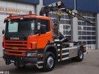 Abrollcontainer des Typs Scania P 114.340 4x4 Hiab 10 ton/meter laadkraan ekkor: ANDELST