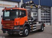 Scania P 114.340 4x4 Hiab 10 ton/meter laadkraan Abrollcontainer
