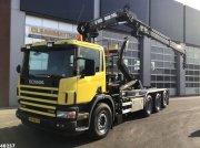 Abrollcontainer des Typs Scania P 114.340 8x4 Hiab 16 ton/meter laadkraan, Gebrauchtmaschine in ANDELST