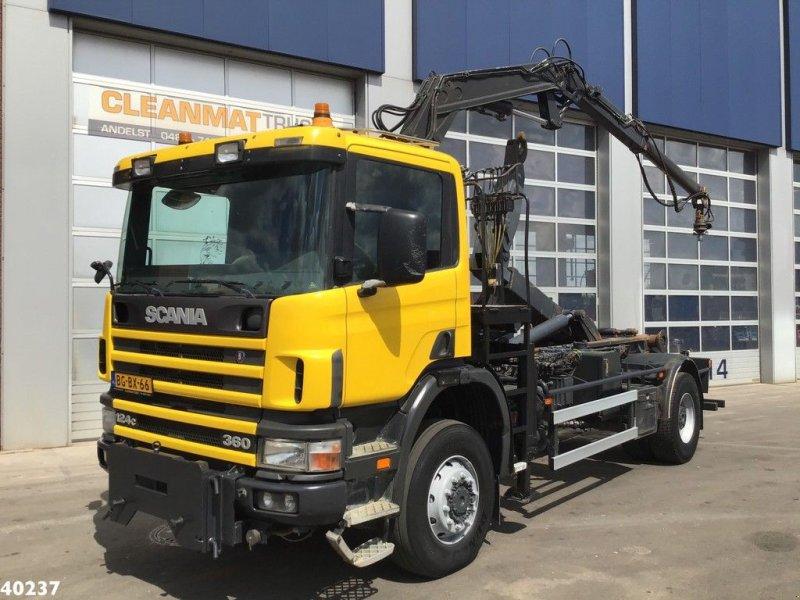 Abrollcontainer a típus Scania P 124.360 4x4 Atlas 8 ton/meter laadkraan, Gebrauchtmaschine ekkor: ANDELST (Kép 1)