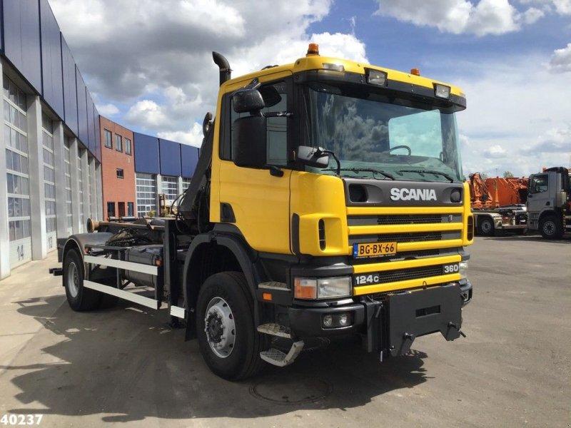Abrollcontainer a típus Scania P 124.360 4x4 Atlas 8 ton/meter laadkraan, Gebrauchtmaschine ekkor: ANDELST (Kép 3)