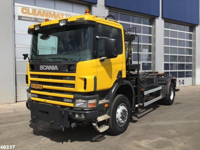 Abrollcontainer a típus Scania P 124.360 4x4 Atlas 8 ton/meter laadkraan, Gebrauchtmaschine ekkor: ANDELST (Kép 5)