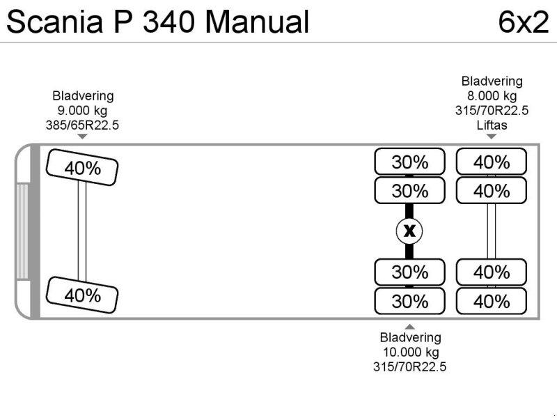 Abrollcontainer a típus Scania P 340 Manual, Gebrauchtmaschine ekkor: ANDELST (Kép 8)