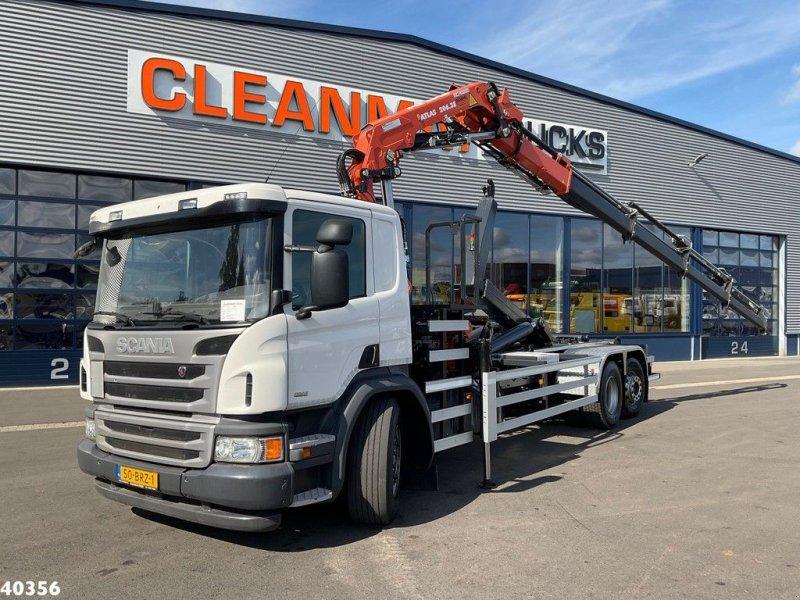 Abrollcontainer типа Scania P 360 Atlas 20 ton/meter laadkraan, Gebrauchtmaschine в ANDELST (Фотография 1)