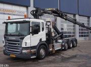 Scania P 420 Euro 5 EEV Hiab 28 ton/meter laadkraan + Welvaarts Container mobile