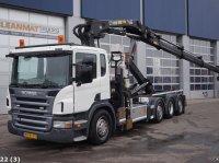 Scania P 420 Euro 5 EEV Hiab 28 ton/meter laadkraan + Welvaarts Spremnik na rasklapanje