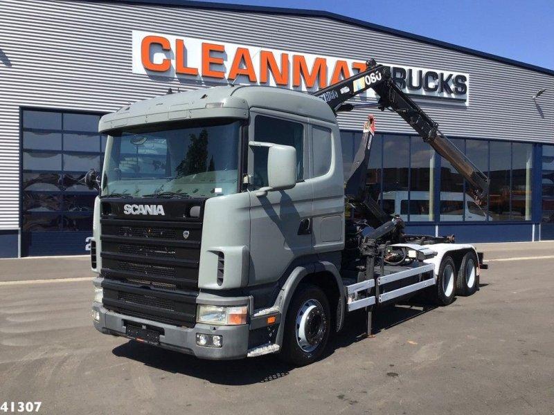 Abrollcontainer des Typs Scania R 124.360 Hiab 8 ton/meter laadkraan, Gebrauchtmaschine in ANDELST (Bild 1)