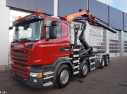 Scania R 410 Euro 6 Palfinger 16 ton/meter laadkraan Pojazdný kontajner
