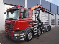 Scania R 410 Euro 6 Palfinger 16 ton/meter laadkraan Containere cu role