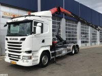 Scania R 520 Fassi 24 ton/meter laadkraan Abrollcontainer