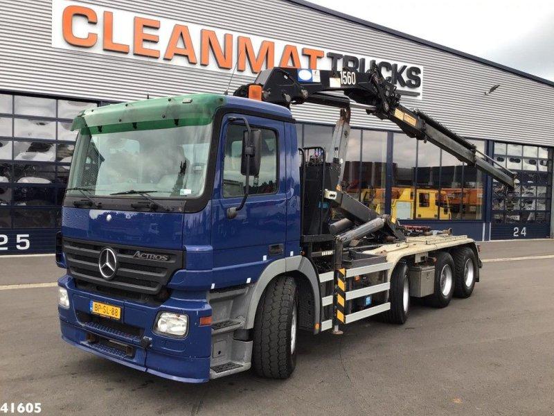 Abrollcontainer типа Sonstige Mercedes Benz Actros 3241 8x4 HMF 15 ton/meter laadkraan, Gebrauchtmaschine в ANDELST (Фотография 1)