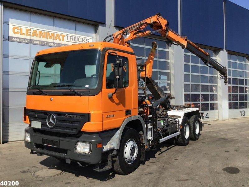 Abrollcontainer des Typs Sonstige Mercedes Benz Actros 3336 6x4 Terex 10 ton/meter laadkraan, Gebrauchtmaschine in ANDELST (Bild 1)