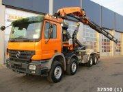 Sonstige Mercedes Benz Actros 4154 8x4 V8 Intarder Palfinger 44 ton/meter laadkraan Съемный контейнер