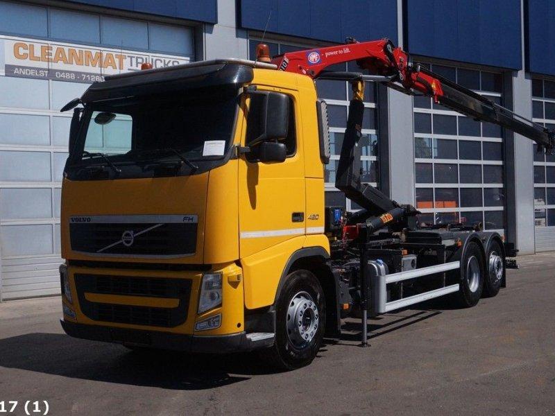 Abrollcontainer типа Volvo FH 420 6x2 Intarder HMF 9 ton/meter laadkraan, Gebrauchtmaschine в ANDELST (Фотография 1)