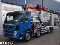 Volvo FM 370 8x2 Euro 5 Fassi 25 ton/meter laadkraan Abrollcontainer
