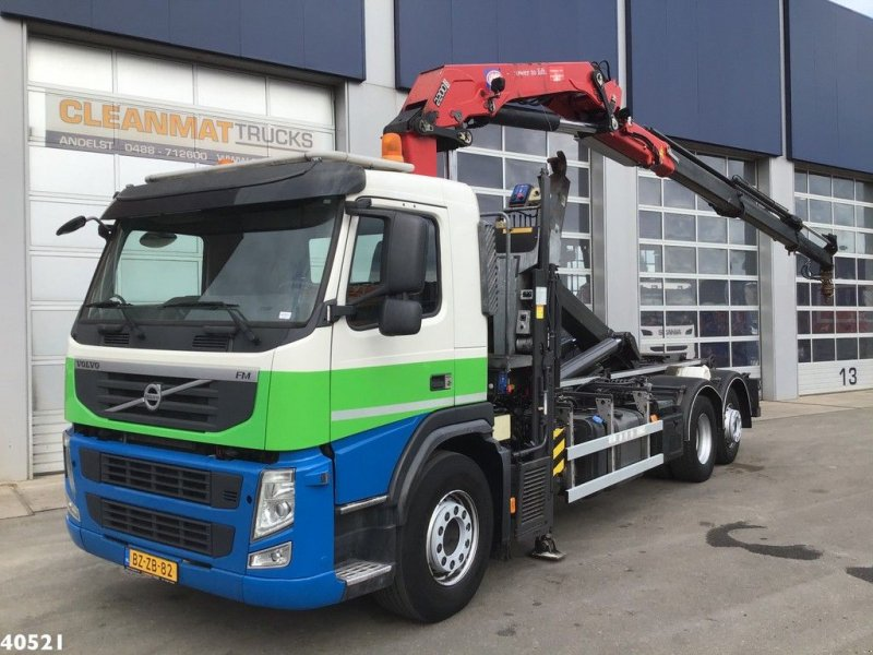 Abrollcontainer of the type Volvo FM 370 HMF 22 ton/meter laadkraan, Gebrauchtmaschine in ANDELST (Picture 1)
