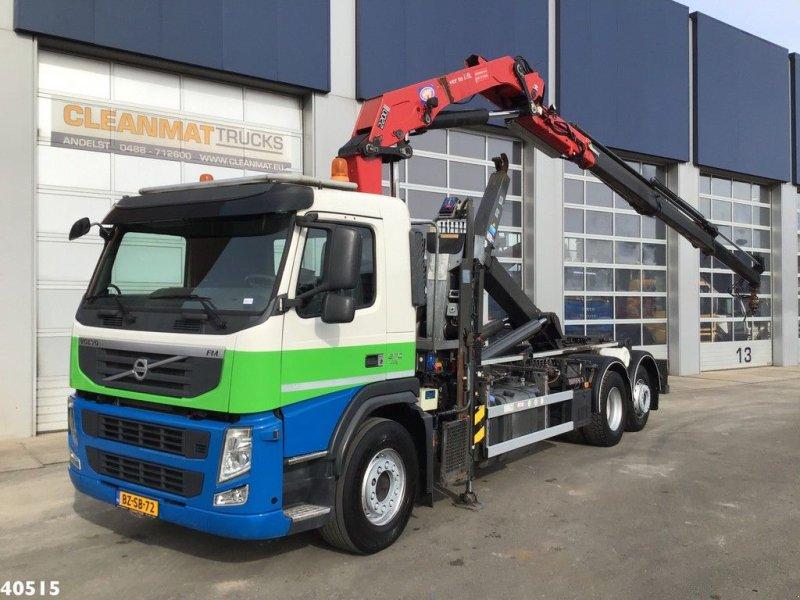 Abrollcontainer tip Volvo FM 370 HMF 22 ton/meter laadkraan, Gebrauchtmaschine in ANDELST (Poză 1)