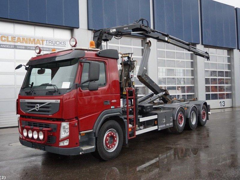 Abrollcontainer типа Volvo FM 420 8x2 Euro 5 Hiab 7 ton/meter laadkraan, Gebrauchtmaschine в ANDELST (Фотография 1)