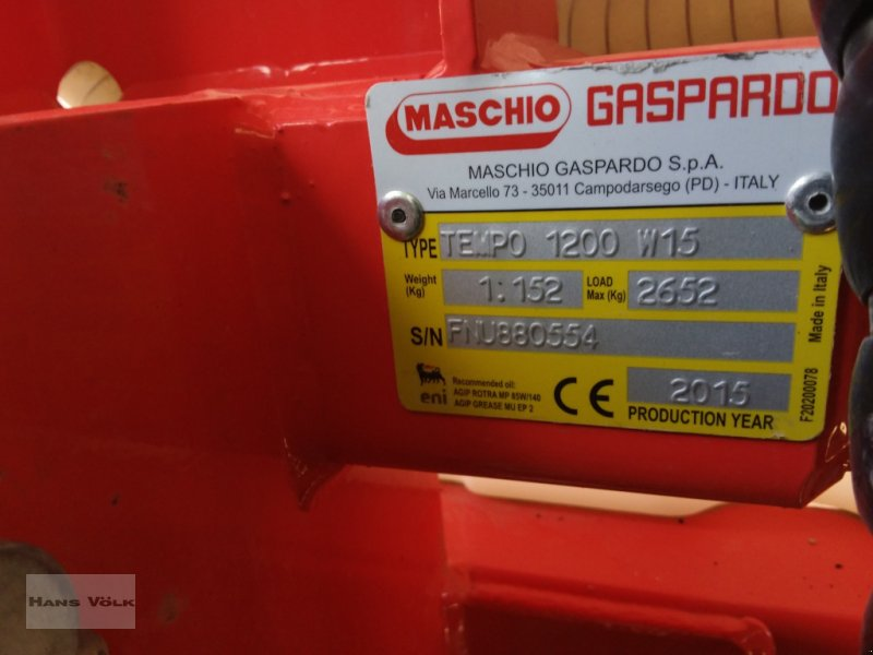 Anbauspritze des Typs Gaspardo Tempo 1200, Gebrauchtmaschine in Schwabmünchen (Bild 5)