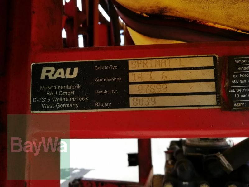 Anbauspritze des Typs Rau SPRIMAT L 600, Gebrauchtmaschine in Furth im Wald (Bild 4)