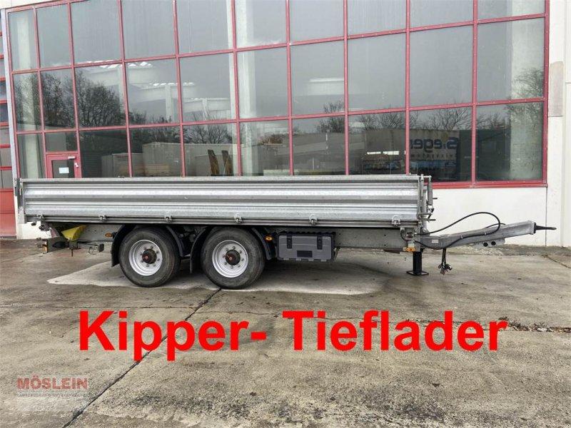 Anhänger des Typs Humbaur HTK 14 t Tandemkipper- Tieflader, 5,50 m lang-- W, Gebrauchtmaschine in Schwebheim (Bild 1)