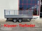 Anhänger des Typs Möslein TDS 11 Gitteraufsatz Tandem 3- Seitenkipper Tiefl in Schwebheim