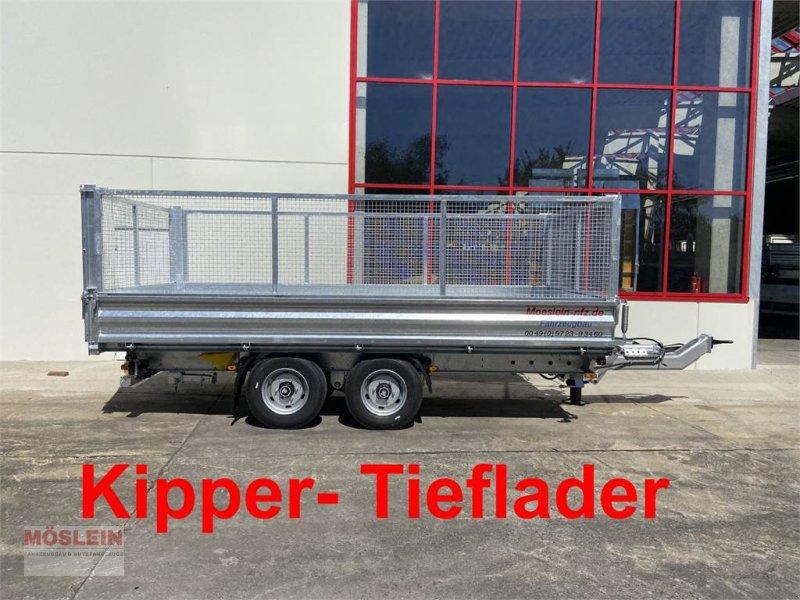 Anhänger des Typs Möslein TDS 11 Gitteraufsatz Tandem 3- Seitenkipper Tiefl, Gebrauchtmaschine in Schwebheim (Bild 1)