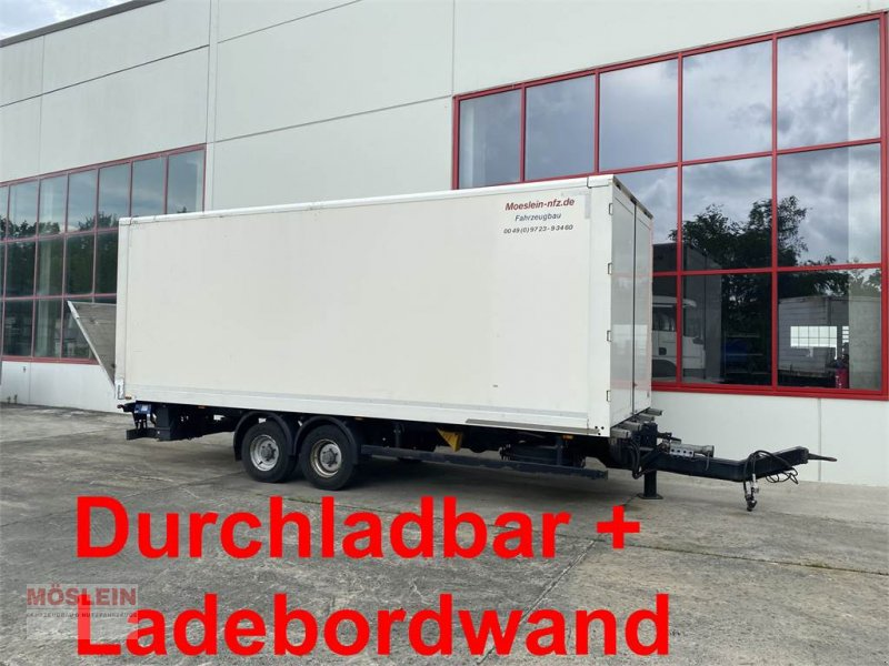 Anhänger типа Möslein TPS 105 D-L Tandem Koffer mit Ladebordwand + Durc, Gebrauchtmaschine в Schwebheim (Фотография 1)