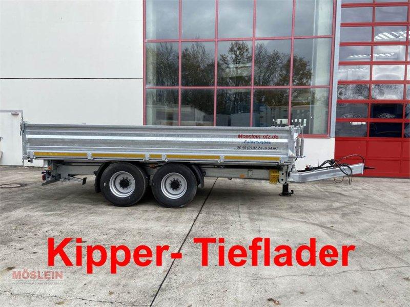 Anhänger des Typs Möslein TTD 14 5,70 m 14 t Tandem- Kipper Tieflader 5,70, Gebrauchtmaschine in Schwebheim (Bild 1)
