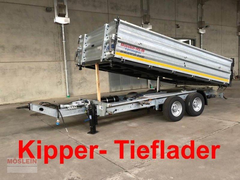 Anhänger des Typs Möslein TTD11- BA Verzinkt Tandem Kipper Tiefladermit Bor, Gebrauchtmaschine in Schwebheim (Bild 1)