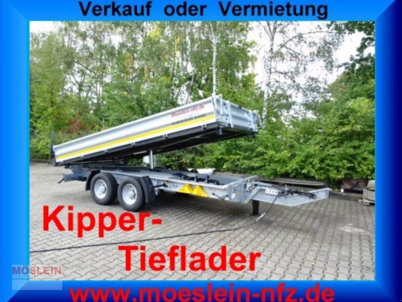 Anhänger des Typs Möslein TTG 11 Verzinkt Tandem 3- Seitenkipper Tieflader-, Gebrauchtmaschine in Schwebheim (Bild 1)