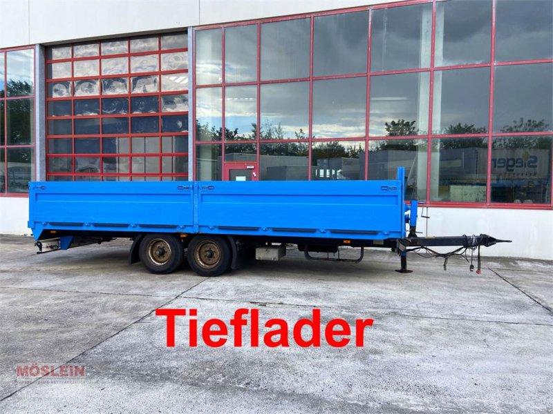 Anhänger типа Müller Mitteltal EAL-TA Tandem- Pritschenanhänger- Tiefl, Gebrauchtmaschine в Schwebheim (Фотография 1)