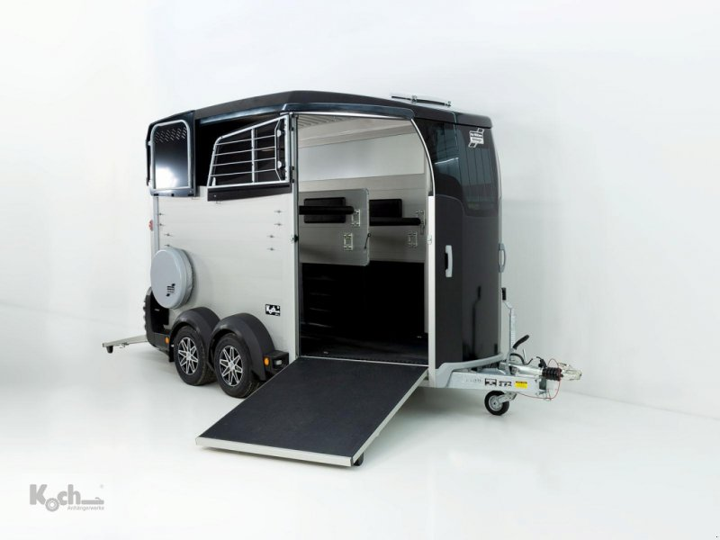Bild Sonstige Pferdeanhänger HBX 511 mit Frontausstieg neues Modell schwarz (Pf2093Iw)