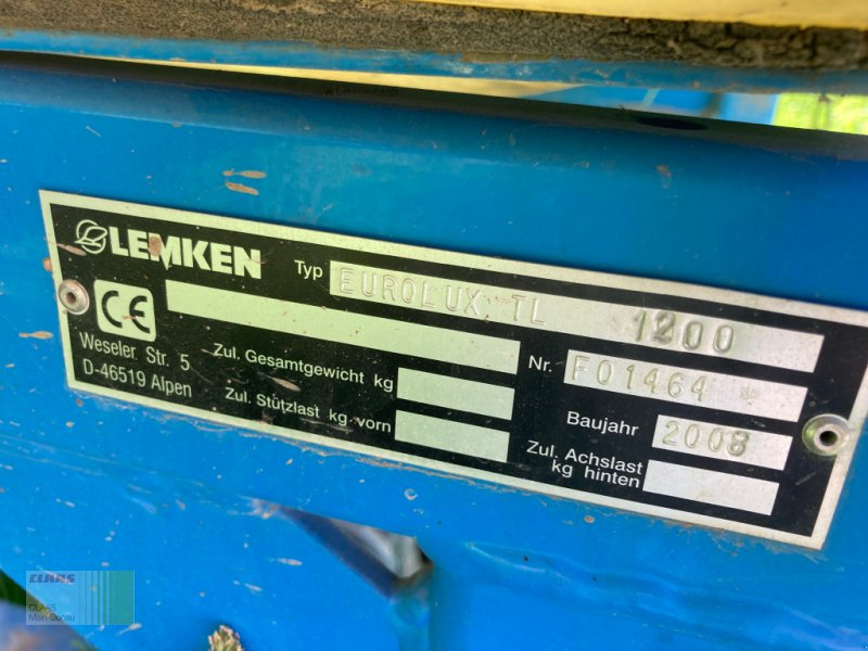 Aufbauspritze des Typs Lemken Eurolux TL 1200, Gebrauchtmaschine in Heilsbronn (Bild 5)