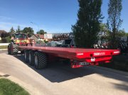 TECHMAGRI PLATEAU 32T - 3 essieux - 12m Bale collecting wagon
