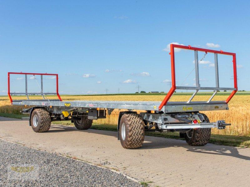 Ballentransportwagen des Typs CYNKOMET Ballenwagen T-608/2-L, 16 t, 9,95 m lang, Neumaschine in Ditzingen (Bild 1)