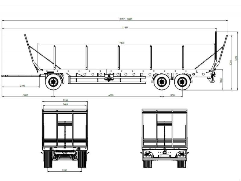 Ballentransportwagen a típus Metal-Fach T019 18 to, Neumaschine ekkor: Heustreu (Kép 10)